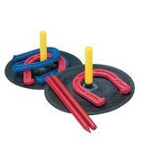 Indoor/Outdoor Safe Rubber Horseshoe Game Set