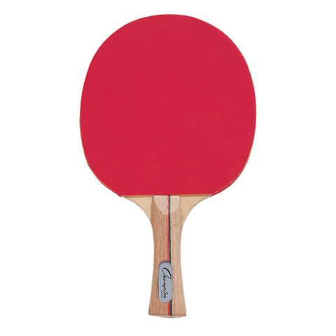 Pips In Rubber Faced Table Tennis Paddle