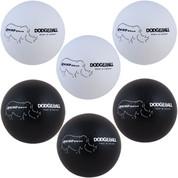 Rhino Skin� Non-Sting Soft Foam Dodgeball Set - Black, White