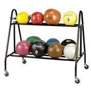 Medium Size Medicine Ball Storage Cart - 14 Balls