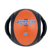 Dual Handle Medicine Ball 6lb Rhino-Cor� Peach