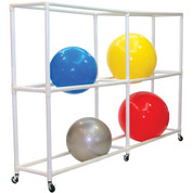 Mobile 12 Ball ABS Exercise Ball Storage Cart