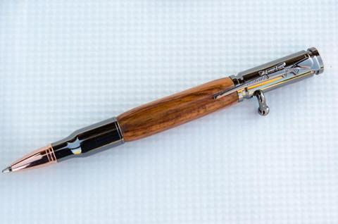 Honduras Rosewood Bolt Action Bullet Pen