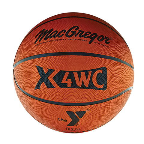 Junior MacGregor X6WC YMCA Logo Rubber Basketball
