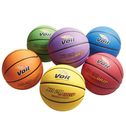 Men's Voit XB 20 The Grip Rubber Indoor and Outdoor Basketball Color Prism Pack