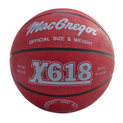 Red MacGregor Durable Rubber Indoor and Outdoor Basketball - Men's Size
