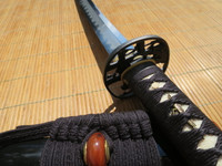 Ronin Elite Katana #298- Japanese Fittings and Silk