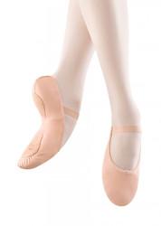 """S0258L - Bloch Adult """"Dansoft II"""" Leather Split-Sole Ballet Slipper"""