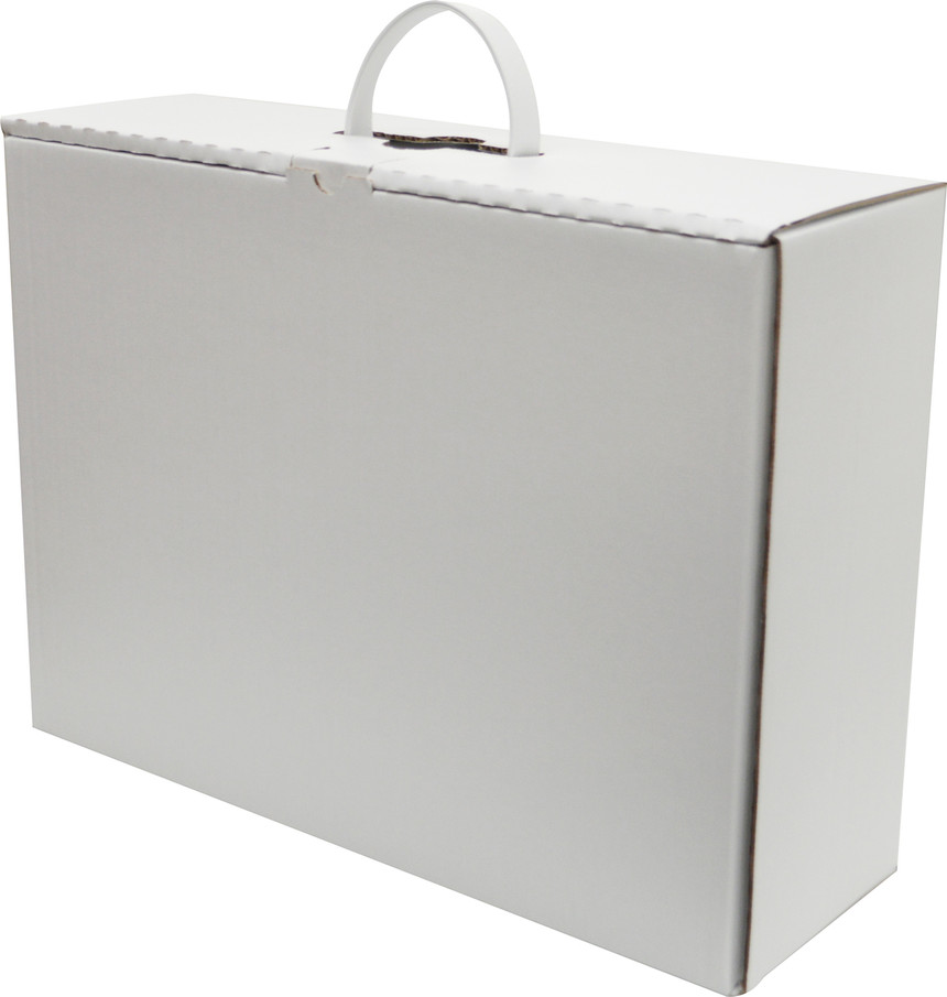 Wedding Dress Box for Travel and Storage with Leather Handles - Reldas