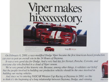 2000 Viper Makes Hisssssstory Poster
