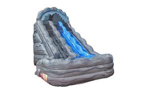 16.5'H Rock Slide (Gray Marble)
