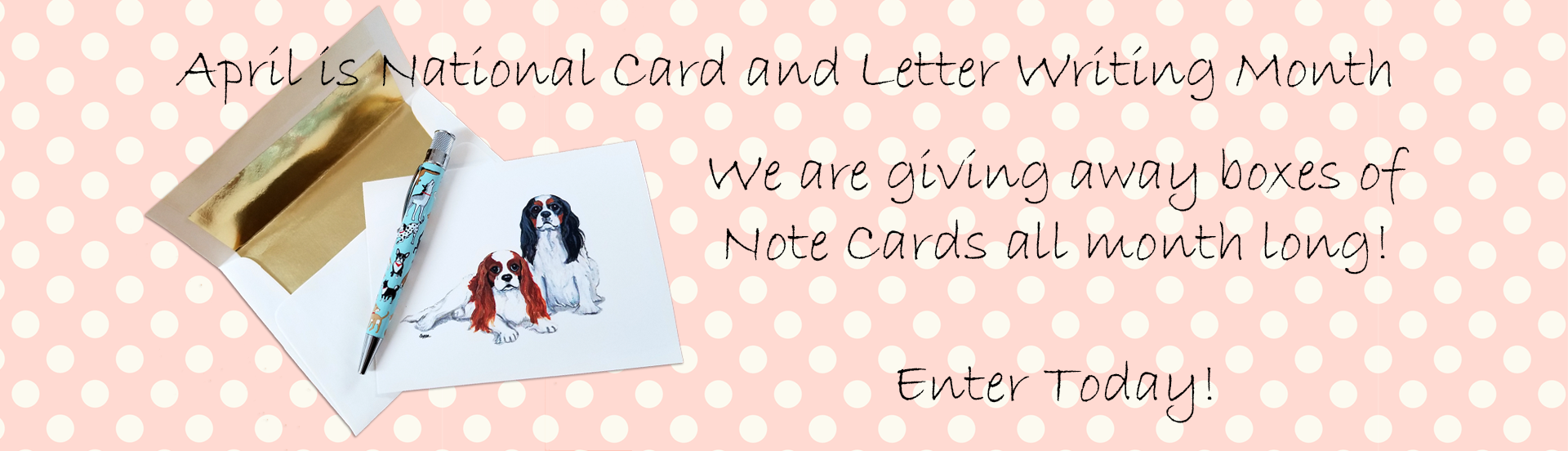 April Note Card Giveaway