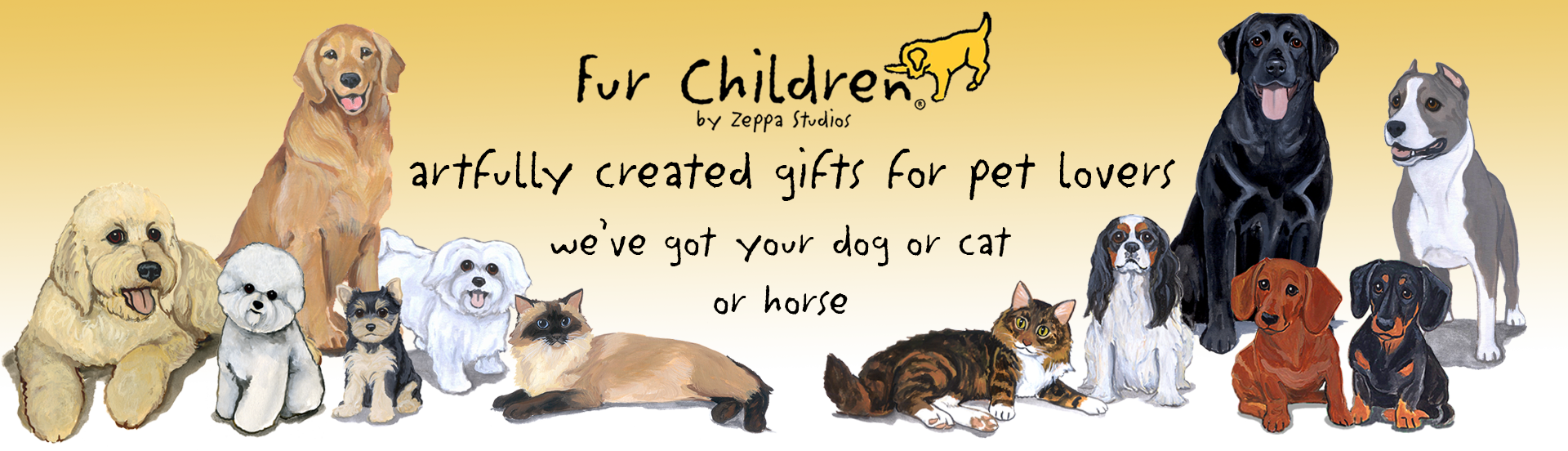 artfully created gifts for pet lovers - Fur Children by Zeppa Studios