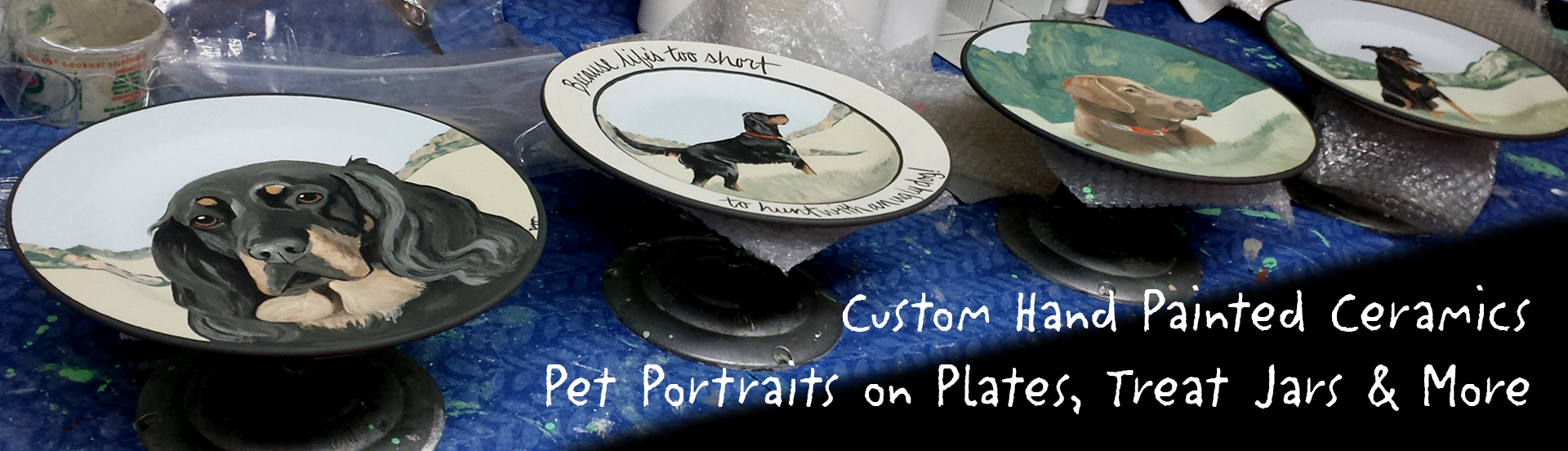 Custom Hand Painted Ceramics for Pet Lovers