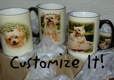 link to hand decorated swimming dog glasses