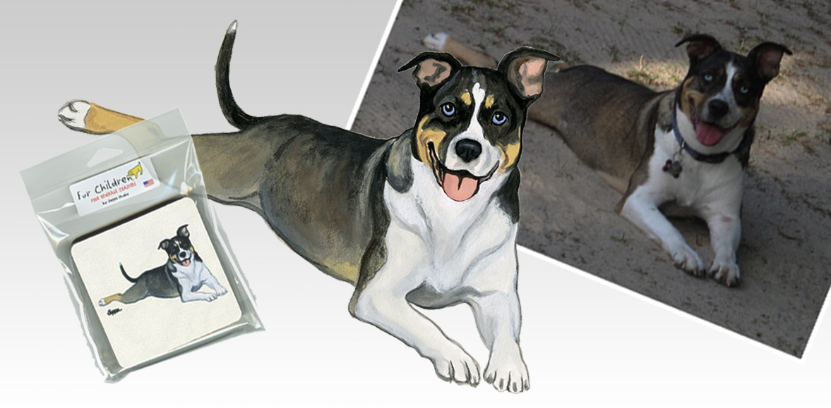 Pet Portraits, from your photo to your product.