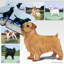 Norfolk Terrier Scenic Coasters