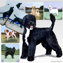 Portuguese Water Dog Scenic Coasters