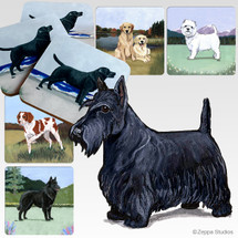 Scottish Terrier Scenic Coasters