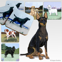 Toy Manchester Terrier Scenic Coasters