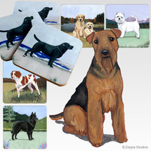 Welsh Terrier Scenic Coasters
