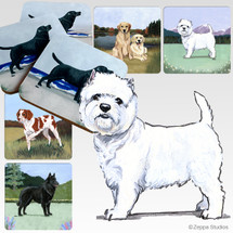 West Highland Terrier Scenic Coasters