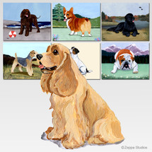 American Cocker Spaniel Scenic Cutting Board