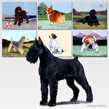 Giant Schnauzer Scenic Cutting Board - Rectangular