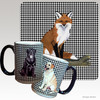 Sitting Fox Houndzstooth Mug