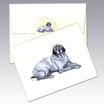 English Setter, Blue Belton Note Cards