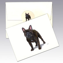 French Bulldog, Brindle Note Cards