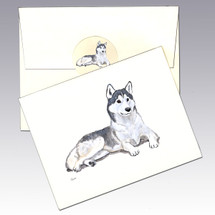 Siberian Husky Note Cards