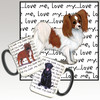 Red and White Papillon Love Me Mug