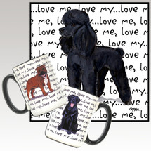 Black Poodle Love Me Mug