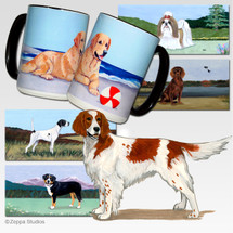 Irish Red and White Setter Scenic Mugs