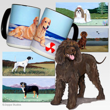 Irish Water Spaniel Scenic Mug