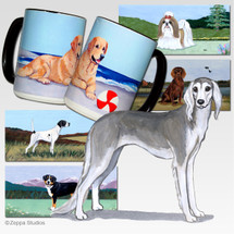 Saluki Scenic Mug - Rectangle