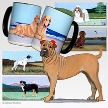 Sharpei Scenic Mug - Rectangle