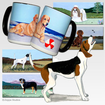 Treeing Walker Coonhound Scenic Mug - Rectangle