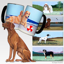 Vizsla Scenic Mug - Rectangle