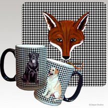 Fox Mask  Houndzstooth Mug