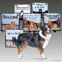Australian Shepherd PuppySlate Signs