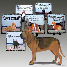 Bloodhound Slate Signs