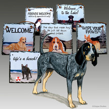 Bluetick Coonhound Slate Signs