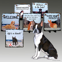 Boston TerrierSlate Signs