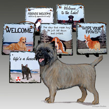 Cairn Terrier Slate Signs