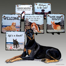 Doberman Slate Signs