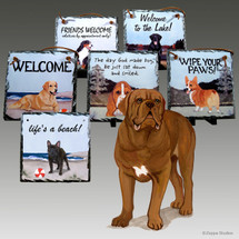 Dogue de Bordeaux Slate Signs