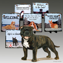 English Staffordshire Terrier Slate Signs