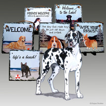 Uncropped Great Dane Slate Signs